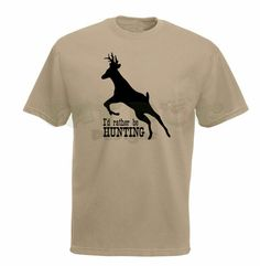 I'd Rather Be Hunting with Deer Silhouette by FatDogDesignsStore