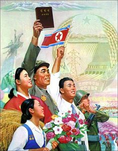 "Inside an Archive of Illustrated Propaganda Posters Inside an Archive of Illustrated Propaganda Posters North Korea, ""Kim Young Sim Bring Honour to Our Glorious Country Forever! Chinese Propaganda Posters, Propaganda Art, Vietnam, Communist Propaganda, Socialist Realism, Political Art, Korean Art, China, Looks Vintage"