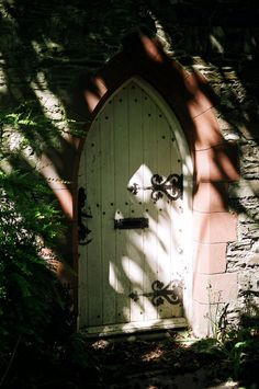 Nunnery Estate Cottage Door, Isle of Man Business School. Isle of Man.