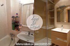 reforma baño antes después ducha y lavabo