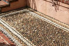The Parterre, Lotusland, Pebble Mosaic Pebble Floor, Pebble Mosaic, Pebble Stone, Stone Mosaic, Pebble Art, Mosaic Art, Mosaic Tiles, Paving Stones, Sticks And Stones