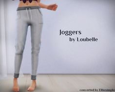 Joggers (Loubelle) at Elliesimple via Sims 4 Updates Check more at http://sims4updates.net/clothing/joggers-loubelle-at-elliesimple/