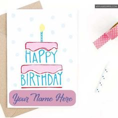 Create My Name Birthday Greeting Cards Online Phot