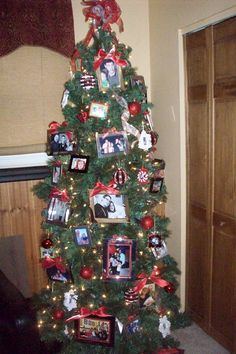 Framed photos from the past year.  Our photo tree is my favorite every year!