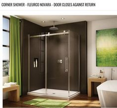 Best price to buy Fleurco Novara In-Line - Door and Panel with Return Panel Closes Against Panel online from our Exotic Home Expo website. See our other Fleurco products. Framed Shower Door, Glass Shower Doors, Cheap Bathroom Vanities, Bath Vanities, Kitchen And Bath Authority, Dreamline Shower, Frameless Sliding Shower Doors, Home Design Diy, Shower Panels