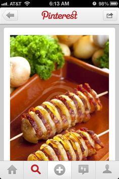 Potato bacon fans