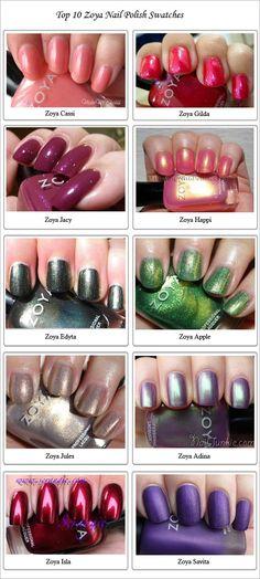Top 10 Zoya Nail Polish Swatches http://www.discoverlakelanier.com