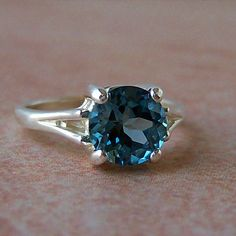 London Blue Topaz Sterling Silver Ring..  This would match my necklace!