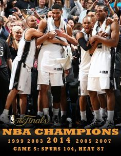 SPURS 2014 NBA CHAMPIONS-  I feel like a proud Mom when I watch the love and respect between these teammates.