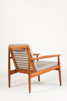Arne Vodder; Teak Easy Chair for Glostrup, 1954.