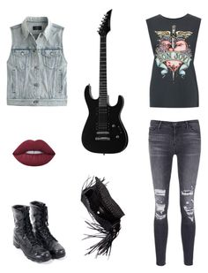 """""""Bon Jovi Throw Back"""" by creilly6120 on Polyvore featuring J.Crew, J Brand, Balenciaga and Lime Crime"""