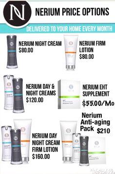 #Nerium Pricing #anti-aging #skincare