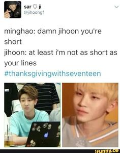 Poor minghao :( give him more lines! I love his adorable voice :((