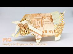 Model: Pig Design & diagram: Lien Quoc Dat Hi everyone, I hope you like my model I want to create more and more beautiful, simple models which everyone can m. Origami Pig, Towel Origami, Pebble Painting, Pebble Art, Stone Painting, Fold Dollar Bill, Dollar Bill Origami, Rainbow Loom Charms, Rainbow Loom Bracelets