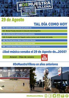 AL DÍA COMO HOY. 29 de Agosto. #DeMuestraVillena  www.muestravillena.villena.es www.facebook.com/Muestravillena @muestravillena