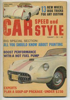 car speed and style magazine vtg feb 1961 hot rod go kart custom