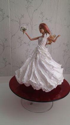 Bolo Barbie, Barbie Cake, Barbie Birthday Cake, Birthday Cake Girls, Girly Cakes, Fancy Cakes, Dolly Varden Cake, Cake Templates, Cake Decorating Designs