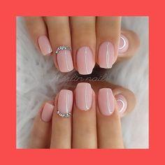 Natural Acrylic Nails, Best Acrylic Nails, Short Natural Nails, Baby Pink Nails Acrylic, Natural Color Nails, Baby Pink Nails With Glitter, Acrylic Summer Nails Almond, Natrual Nails, Blush Pink Nails
