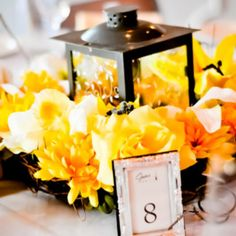21 Ideas wedding decorations elegant yellow center pieces for 2019 - Table Settings Yellow Centerpieces, Lantern Centerpieces, Elegant Centerpieces, Flower Centerpieces, Yellow Decorations, Lanterns, Centerpiece Ideas, Aqua Wedding, Fall Wedding