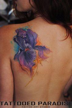 Iris watercolor tattoo by dopeindulgence.deviantart.com on @deviantART