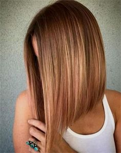 Angled Lob Haircuts That Prove Blunt Isn't Always Better: Peachy Lob - Longbob For the Love of Lob: 20 Long-Bob Hairstyles to Inspire You - Hair Cutting - Modern Salon 27 Stylish A-Line Bob Haircuts and Hairstyles for GREAT COLOR! Inverted Bob Hairstyles, Long Bob Haircuts, Medium Bob Hairstyles, Straight Hairstyles, Lob Haircut Thin, A Line Haircut, Pixie Haircuts, Angeled Bob Haircut, Haircuts For Girls