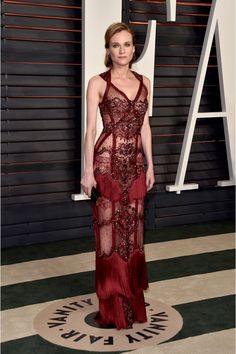 The star of the Oscars red carpet? The sparkling full-length gown