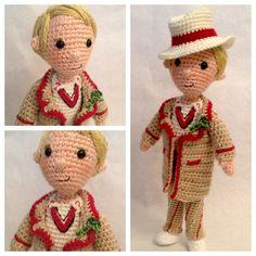 Fifth Doctor Who Amigurumi Crochet Pattern by craftyiscoolcrochet
