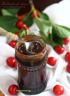 dulceata de cirese-2 Chocolate Fondue, Preserves, Pickles, Deserts, Food And Drink, Gem, Cooking, Romania, Drinks
