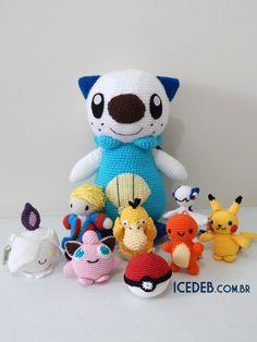 Bonecos Pokemon em Crochê