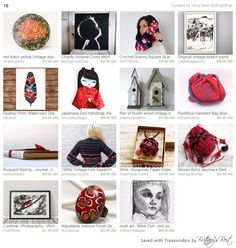 Our Red/Blue Handled Bag in this cute treasury by Vicky <3 Thank you so much!!! https://www.etsy.com/treasury/NDQyODEzOTd8MjcyNzM4MTYwMA/10