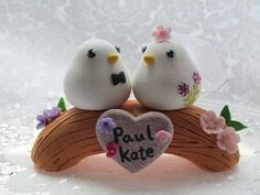 i bet i can make this in cake! Bird Cake Toppers, Fondant Cake Toppers, Fondant Figures, Cupcake Cakes, Fondant Cupcakes, Wedding Birds, Wedding Cakes With Flowers, Gold Wedding, Ballet Cakes