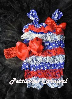 b5ac987d09a US national day United States 4th July tutu ruffle baby dress Little Babies