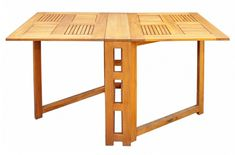 Mesa plegable extraíble modelo nuevo madera teca