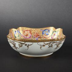 Le tallec. porcelain salad bowl - french porcelain #BuyArtOnline more details on en.expertissim.com