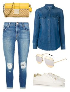 """""""Denim style"""" by vera-brites on Polyvore featuring J Brand, Dolce&Gabbana, MICHAEL Michael Kors and Christian Dior"""