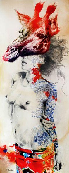 Une sélection des créations de l'illustrateur, artiste et graphic designer espagnolGabriel Moreno, basé à Madrid, qui imagine des compositions colorées e