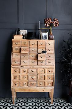 #eclectichome #storage #storagecabinet #storageideas #quirkyhome #eclecticdecor #quirkyinteriors #vintagehome #antiquestyle #haberdashery #homestorage #storagesolutions #rockettstgeorge Kitchen Cabinet Storage, Sideboard Cabinet, Storage Cabinets, Cupboards, Apothecary Cabinet, Home Office Storage, Stylish Kitchen, Small Drawers, Wooden Cabinets