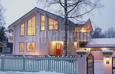 Finnish modern wooden house