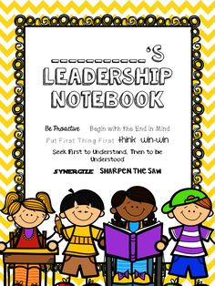 Teaching with a Touch of Twang: Leader in Me Mini-Series: Leadership Notebooks - Quotes Leadership Notebook, Leadership Classes, Student Leadership, Leadership Activities, Leadership Qualities, Leadership Development, Leadership Quotes, Group Activities, Teaching Resources