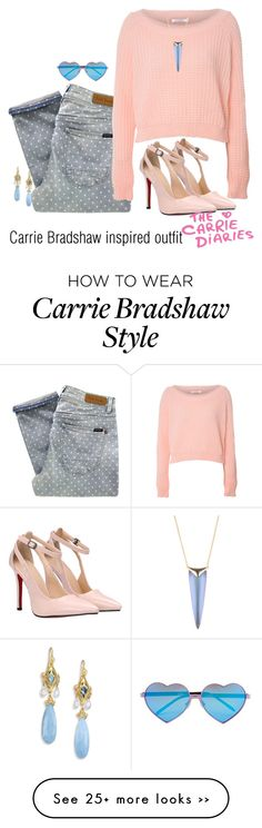 """""""Carrie Bradshaw inspired outfit/TCD"""" by tvdsarahmichele on Polyvore"""