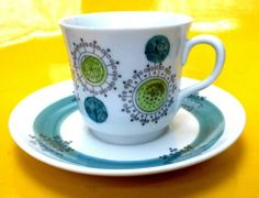 Rorstrand Scandinavian Retro Sweden Puck by Rörstrand Cup and Saucer Mid Century | eBay