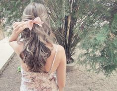 I love this hair style. It is great for a special occasion! Just maybe not the bow for someone my age!