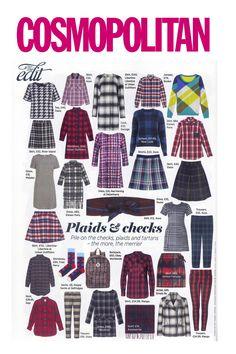 Tartan Wrap Skirt in Cosmopolitan Magazine
