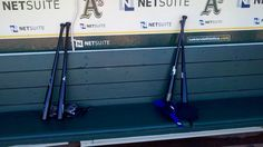 Ichiro's bats are on the left, and Kawasaki's bats are on the right. Kawasaki sometimes imitates Ichiro without even knowing he does it. Mariners (Shannon Drayer, MyNorthwest.com)