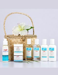 Made by mothers, for mothers. Pure Fiji Spa Basket, Coconut Infusion - Tropical Gift Ideas    Pure Fiji supports a community of women that live outside Suva. These women are kept busy weaving baskets that are used to package Pure Fiji products.