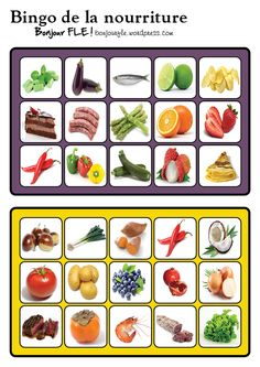Free Resources For Teachers of French French Teaching Resources, Teaching French, Teacher Resources, Bingo, Food In French, Kindergarten Language Arts, Core French, French Classroom, French Teacher