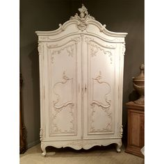 The Absolutely stunning detail of our Delphine Distressed Shabby Chic Armoire is really almost too good to be true.