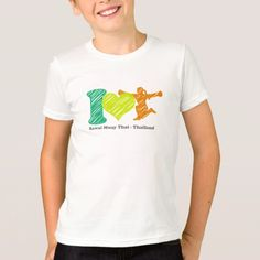 I Love Rawai Unisex Kids Fine Jersey T-Shirt