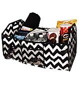 Black Chevron and Black Utility Storage Tote with Insulated Bag