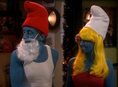 The Big Bang Theory. Howard and Bernadette when they dressed up as smurfs :P Big Bang Theory, The Big Theory, Howard And Bernadette, Best Costume Ever, Chuck Lorre, Howard Wolowitz, Which Character Are You, Tv Shows Funny, Best Clips